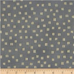 Beau Monde Metallic Dashes Grey