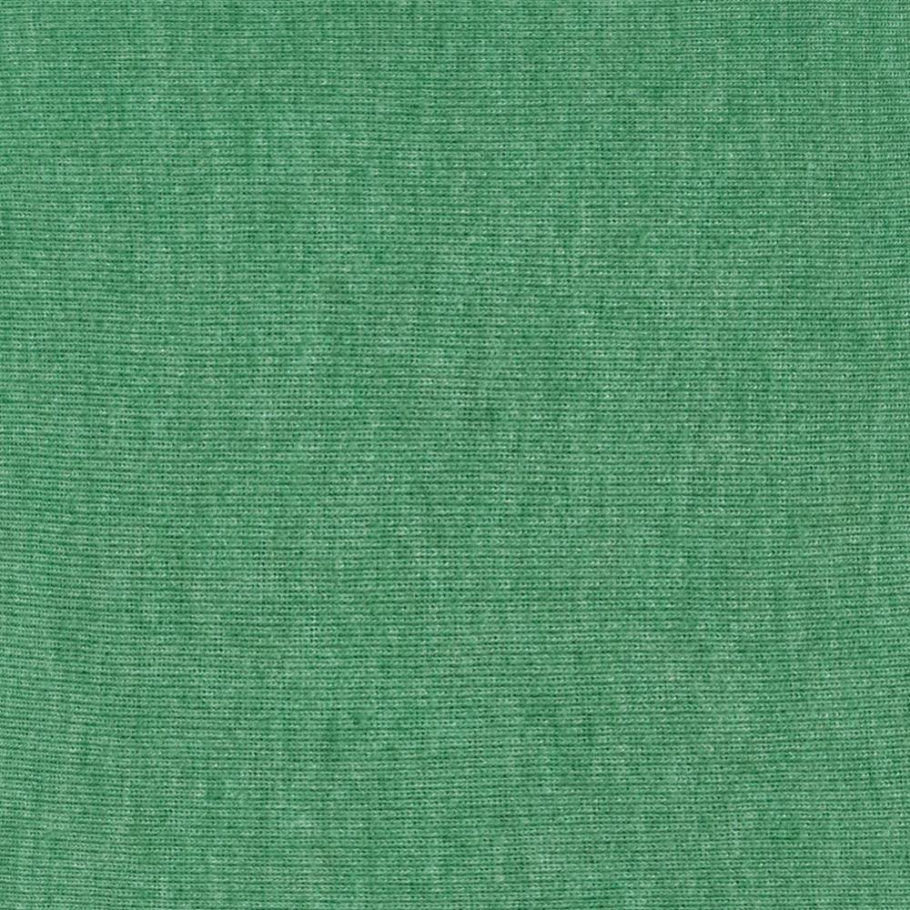 Cotton Poly Blend Baby Rib Knit Heather Green