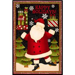 Santa's Large Door Panel Black/Multi