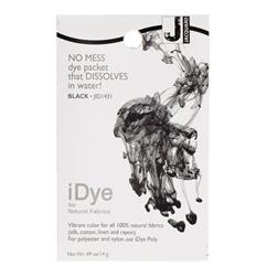 Jacquard iDye Natural Fiber Fabric Dye Black