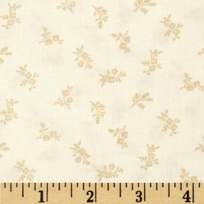 "Good Measure 2 114"" Wide Back Floral Ecru"