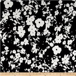 Dakota Jersey Knit Floral Print Black/White