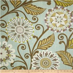 HGTV HOME Urban Blossoms Basket Weave Glacier Fabric