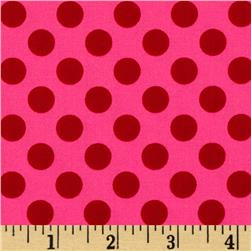 Michael Miller Ta Dot Pink Fabric