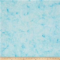 Timeless Treasures Tonga Batik Happy Hour Shadow Flower Aqua