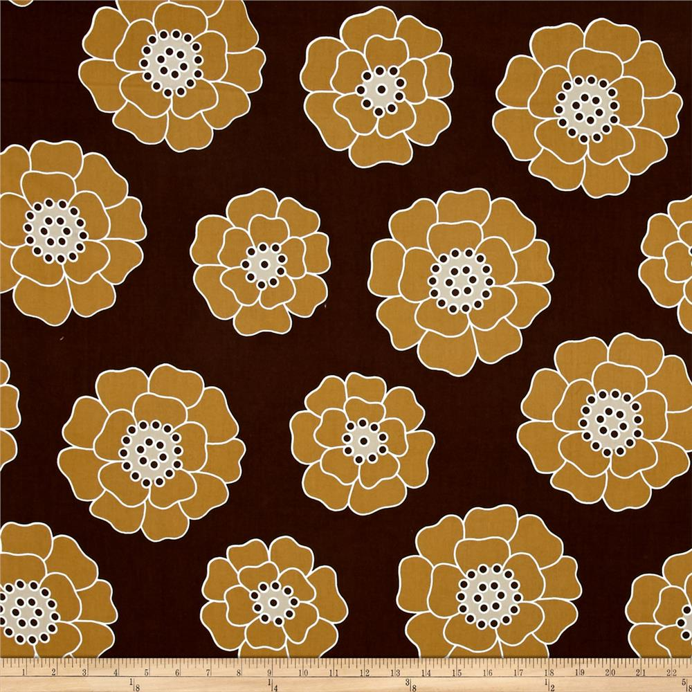 Contempo Palm Springs Big Bloom Brown