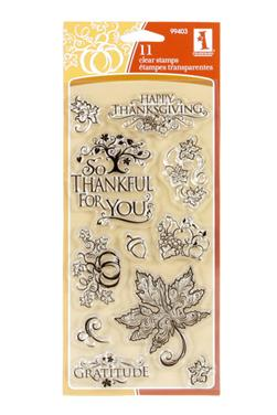 Inkadinkado Clear Stamp Filigree Fall Collection