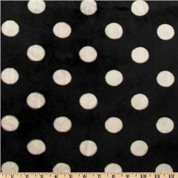 Minky Cuddle Jumbo Dot Black Fabric
