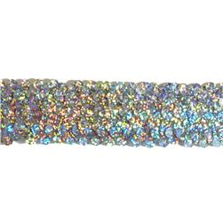 1 1/2'' Stretch Starlight Sequin Trim Silver