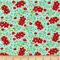 Moda Hello Darling Wildflowers Aqua
