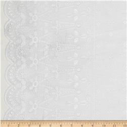 Cotton Eyelet Flounce Off-White
