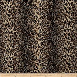 Stretch Lace Animal Print Brown