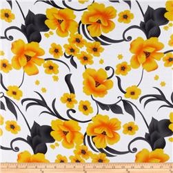 Angeline Chiffon Floral Golden/Charcoal