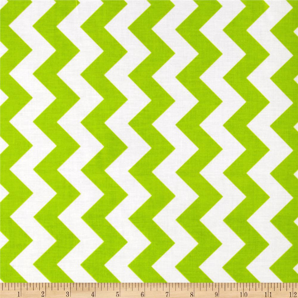 Riley Blake Laminate Medium Chevron Lime