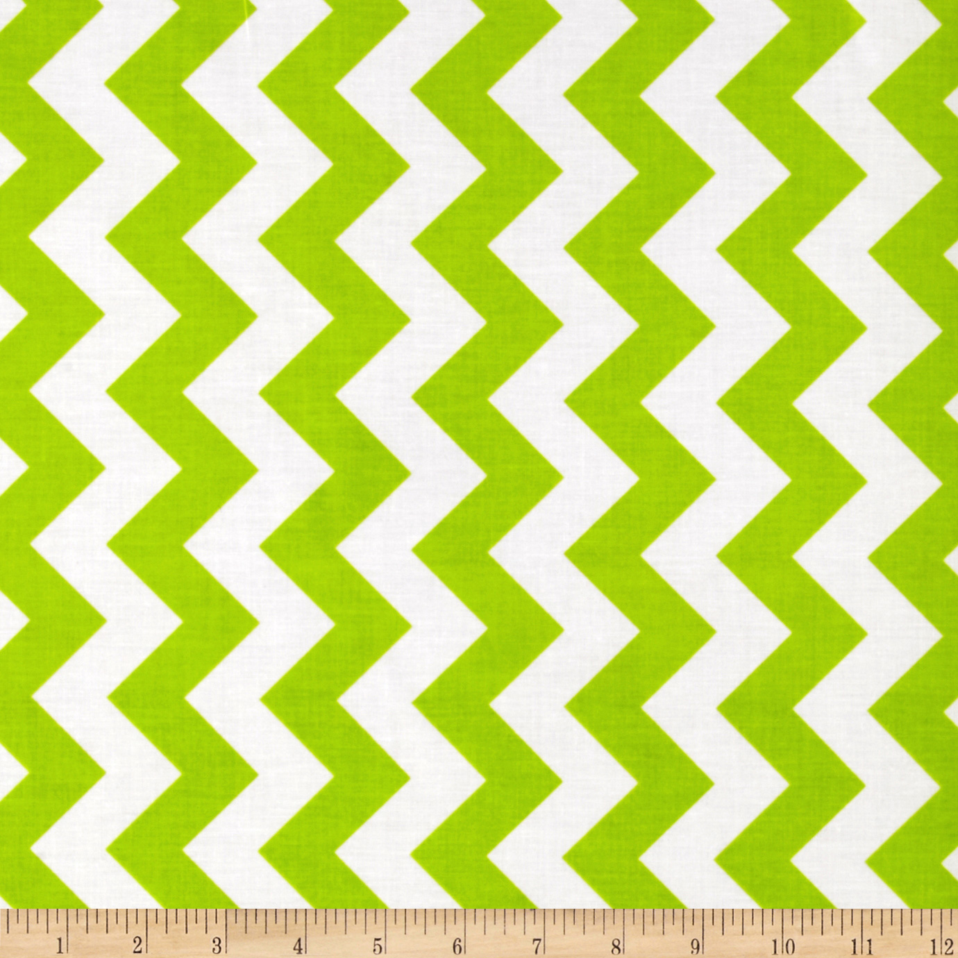 Riley Blake Laminate Medium Chevron Lime Fabric