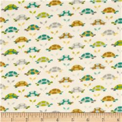 Michael Miller Flannels Les Amies Turtle Parade Teal