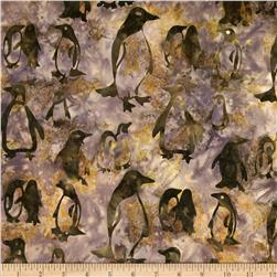 Michael Miller Batik Emperor Penguins Earth