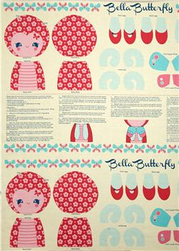 Riley Blake Flutterberry Panel Pink