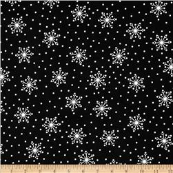 Crazy For Christmas Flannel Snowflake Black