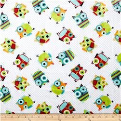 Minky Cuddle Classic Kids Hooty Snow Fabric
