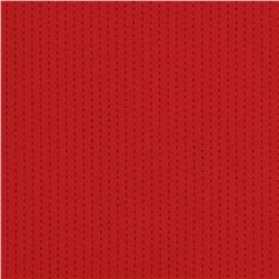 Nylon Micro Porthole Jersey Performance Knit Red