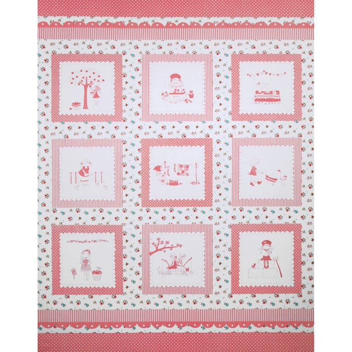 Riley Blake The Simple Life Simple Panel Pink