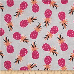 Michael Miller Migration Pineapple Palm Fuschia