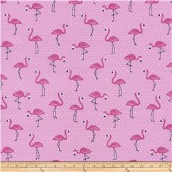 Timeless Treasures Luau Mini Flamingos Pink