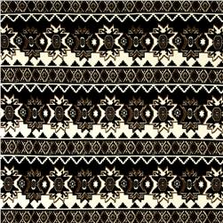Aztec Hatchi Sweater Knit Black/Brown