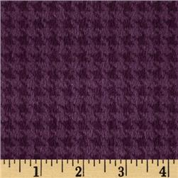 Kensington Flannel Houndstooth Plum