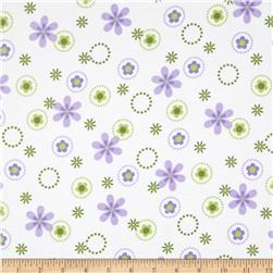 Cozy Cotton Flannel Multi Floral Spring Fabric