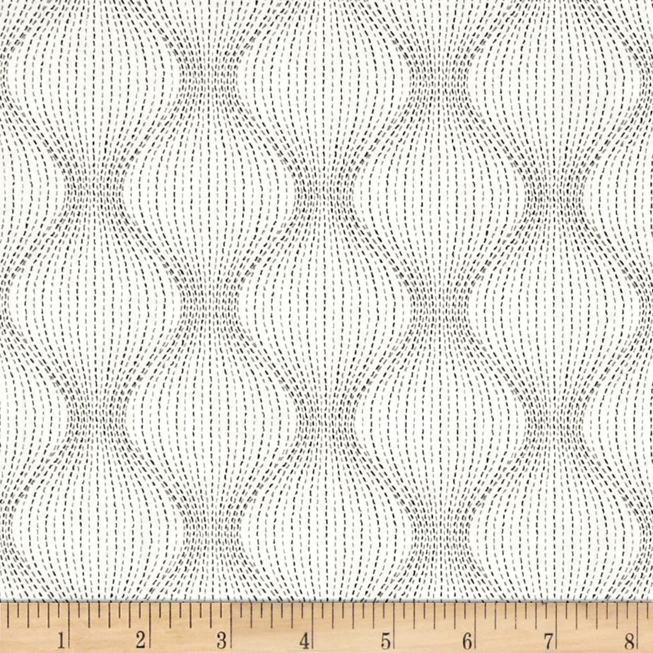 Kaufman Studio Stash 3 Bulging Stripe White