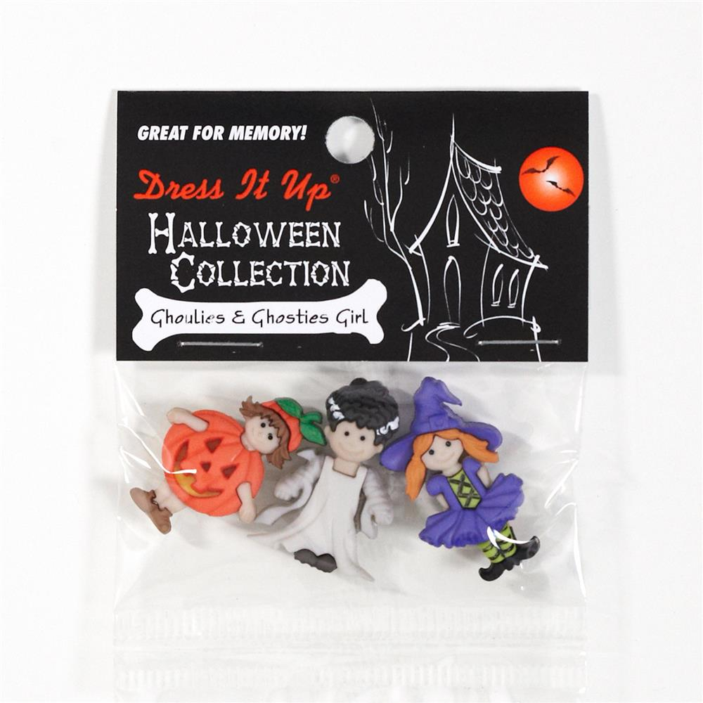 Dress It Up Embellishment Buttons Ghoulies & Ghosties