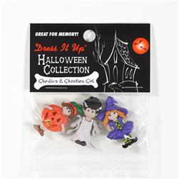 Dress It Up Embellishment Buttons Ghoulies & Ghosties Girl