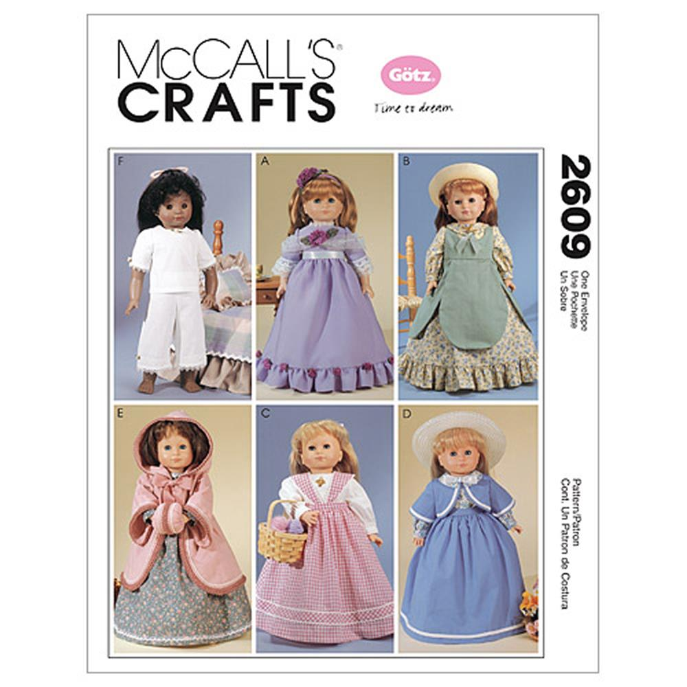 "McCall's Clothes For 18"" Doll Pattern M2609 Size OSZ"