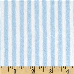 Minky Cuddle Classic Mini Stripe Baby Blue/White Fabric