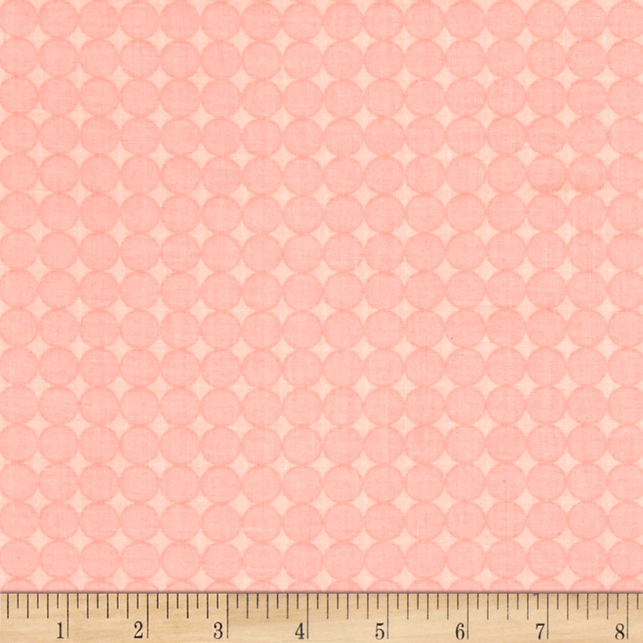Image of Contempo Owls And Pals Round Grid Rose Fabric