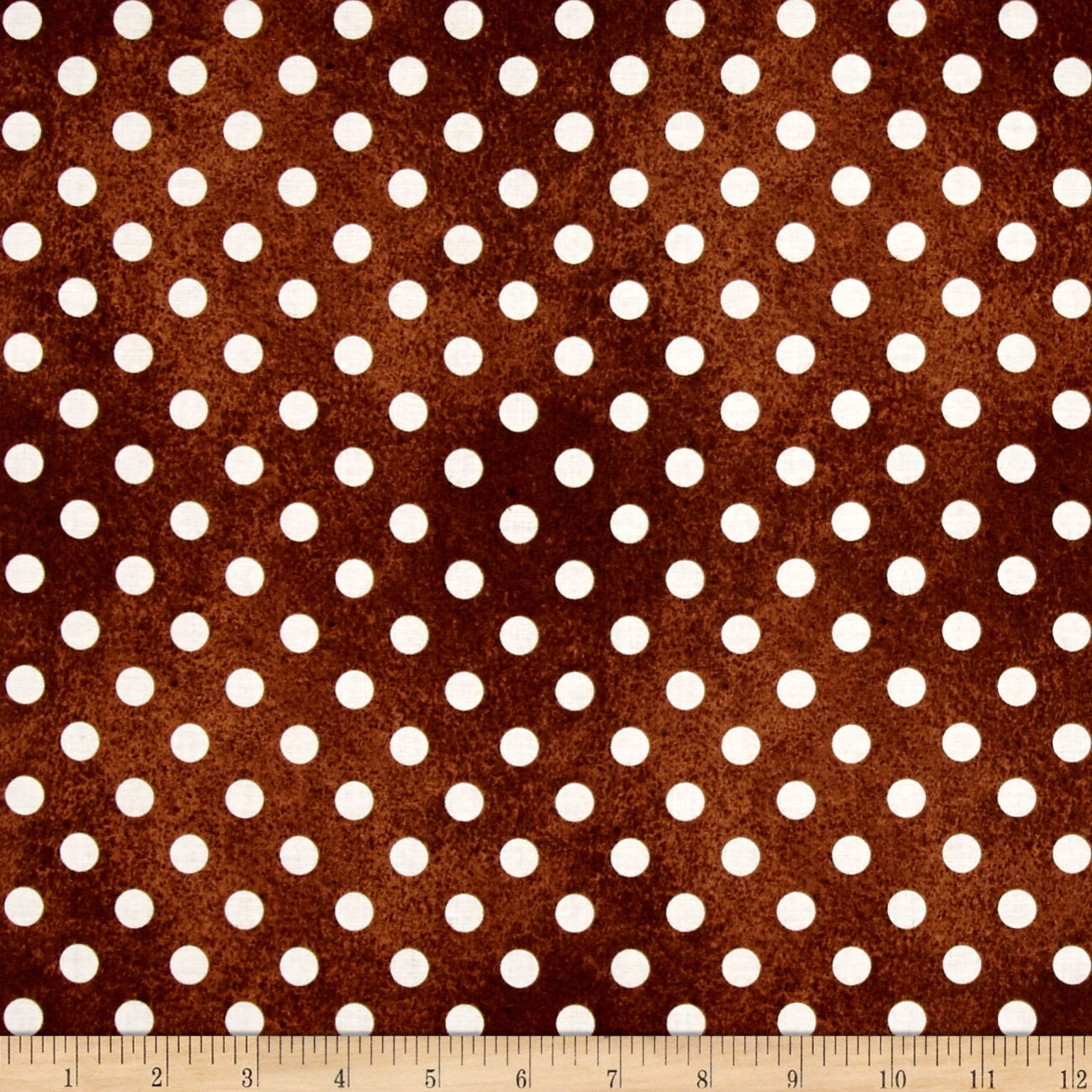 QT Fabrics Daily Grind Polka Dot Brown