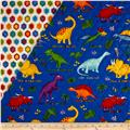 Lost World Double Sided Quilted Dino's Royal/Multi