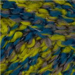 Bernat Soft Boucle'  Yarn (46204) Lemon Pepper Blue