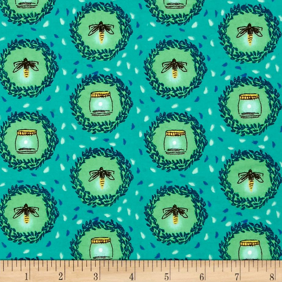 Michael Miller Wee Wander Flannel Glow Friends Sea Fabric