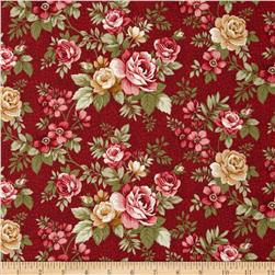 Summer Festival Medium Floral Roses Red