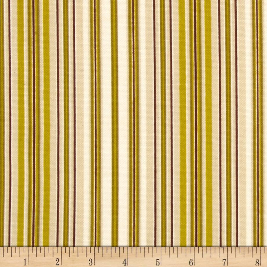 Georgette Home Decor Stripe Chartreuse/Brown