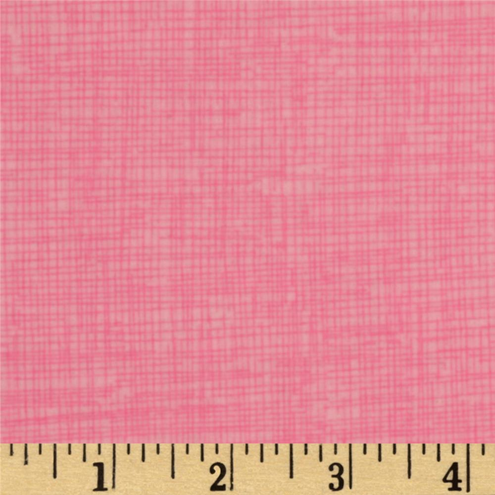 Timeless Treasures Sketch Flannel Pink