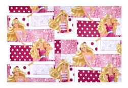 Barbie Fleece Patchwork White/Multi