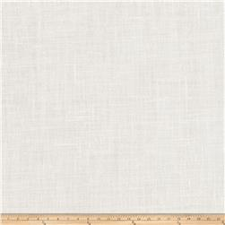 "Fabricut Lisa 127"" Sheer Linen Blend Alabaster"