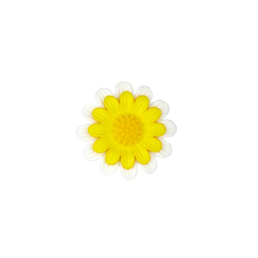 Dill Novelty Button 1 1/8''  Daisy Yellow