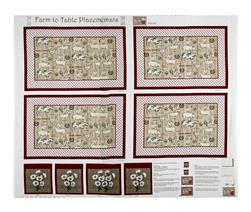 "Farm To Table Placemat 35.5"" Panel Red"