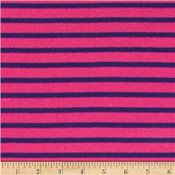 Stripe Jersey Knit Fuchsia/Blue