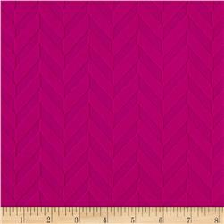 Liver Pool Double Knit Chevron Embossed Mulberry Purple